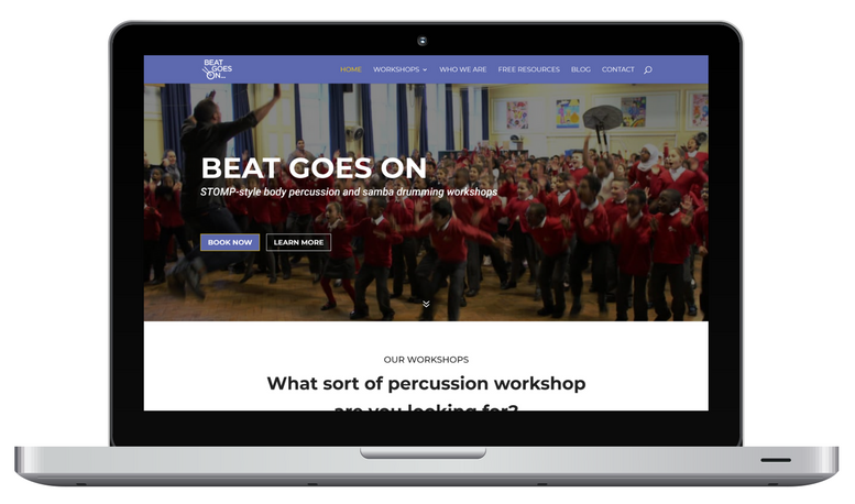 The Beat Goes On website designed by ESM Inbound