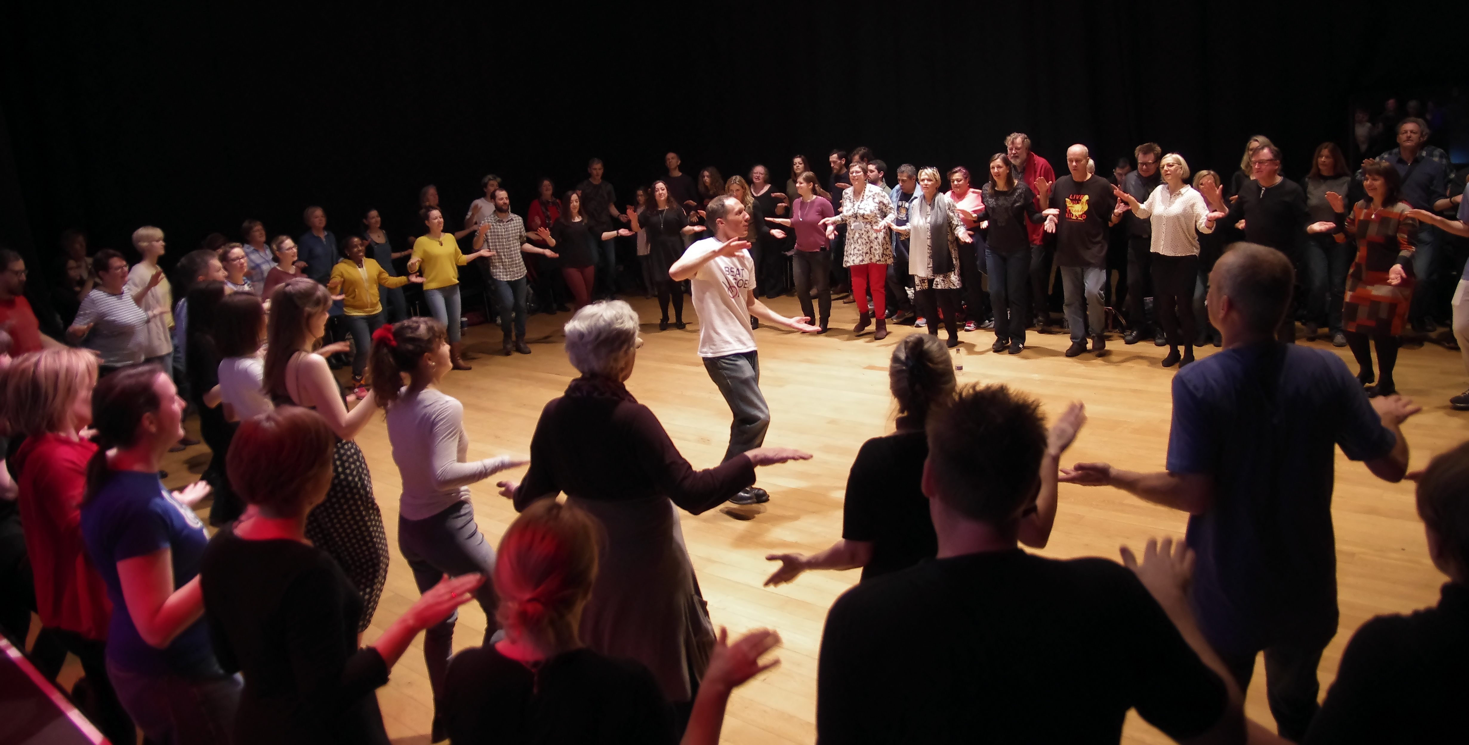 Ollie Tuner of Beat Goes On leads a teacher CPD session