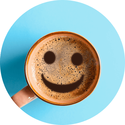 Coffee cup with a smile