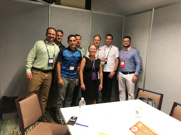 Inbound 2018 meeting of men and one woman