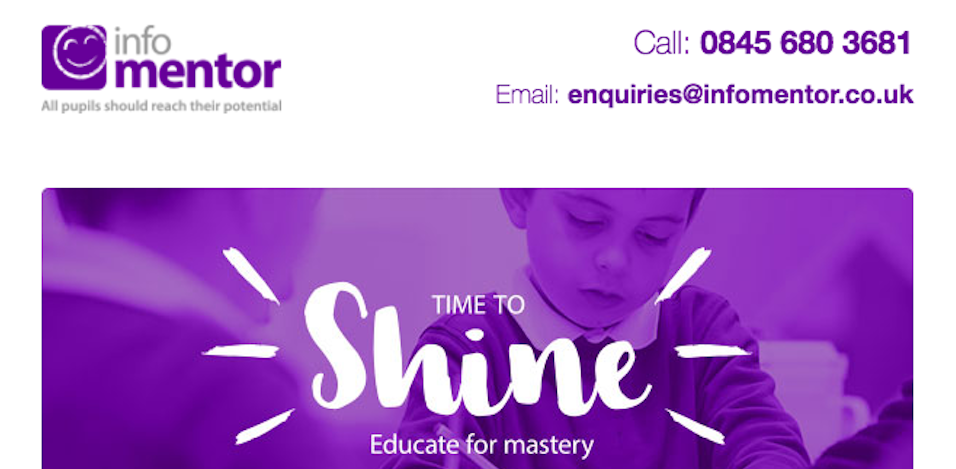 InfoMentor email template