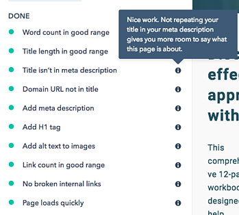Checklist for landing page best practice in HubSpot