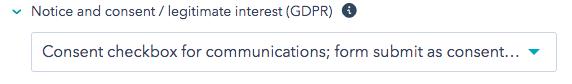 GDPR consent form HubSpot