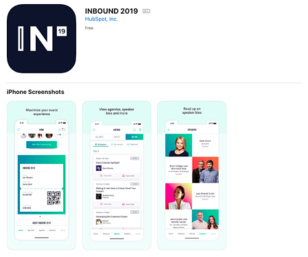 Inbound 2019 HubSpot app