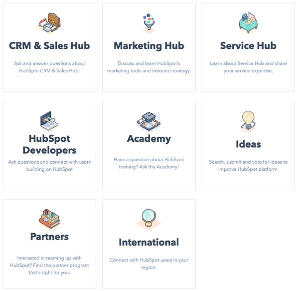 HubSpot community boards