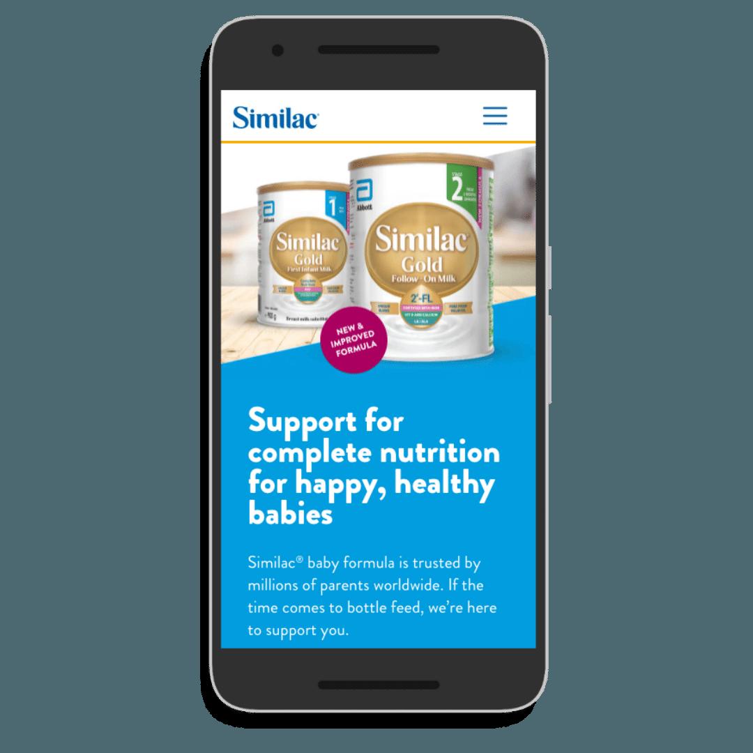 Similac smartphone