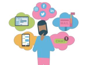 Social media communication options
