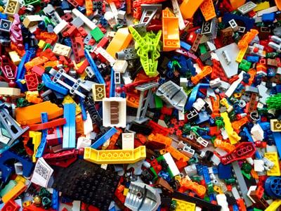 pillar page content chaos lego bricks